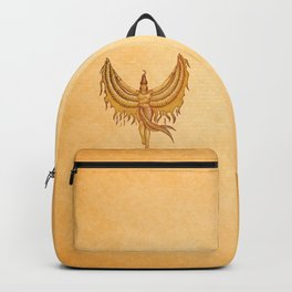 Isis, Goddess Egypt with wings of the legendary bird Phoenix Backpack