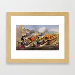 American Railroad Scene (Currier & Ives) Framed Art Print