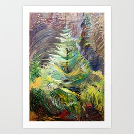 Emily Carr - Heart of the Forest - Canada, Canadian Oil Painting - Group of Seven  Art Print