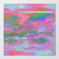 08-12-13 (Building Pink Glitch) Canvas Print