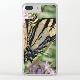 Western Tiger Swallowtail on Lemon Blossoms Clear iPhone Case