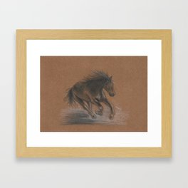 Horse Running Framed Art Print
