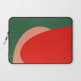 Abstract Composition in Red and Green Laptop Sleeve