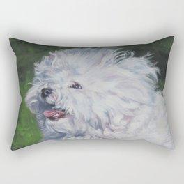 Bichon Bolognese dog art from an original painting by L.A.Shepard Rectangular Pillow