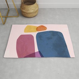 Colored stones Rug