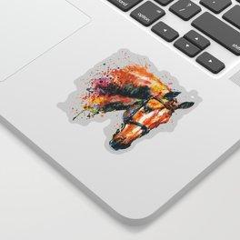 Colorful Horse Head Sticker