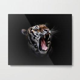 Ferocious Tiger Metal Print