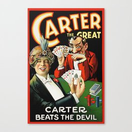 Carter The Great Magician Poster Canvas Print