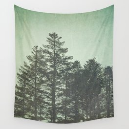 Trees in Fog Wall Tapestry