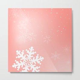 Falling Snowflake Metal Print