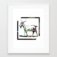 goat Framed Art Prints featuring Goat by LoRo  Art & Pictures