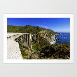 Bixby creek bridge, Big Sur, CA. Art Print