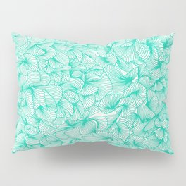 Knee-Deep in Turquoise Ink Pillow Sham