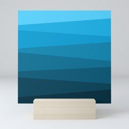 Blue ocean Mini Art Print