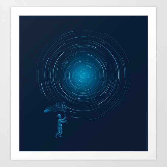 Catch a Star trail Art Print