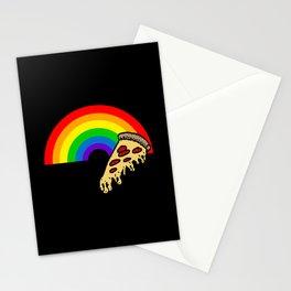 pizza rainbow Stationery Cards