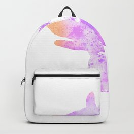 Shadow Hand Puppet Illustration Backpack