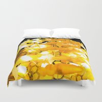 bees Duvet Covers featuring Bees by Long Live The Doughnuts