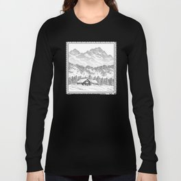 SNOWED IN PEN DRAWING Long Sleeve T-shirt