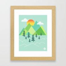 Patchwork Pass Framed Art Print