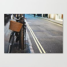 lonely bike Canvas Print