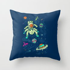 Antronaut And The Sugar Galaxy Throw Pillow