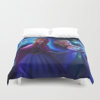 frozen Duvet Covers featuring frozen by KATIE PAYNE