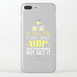 Network Admin Design: Joke About UDP Clear iPhone Case