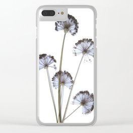 flowers on white background. botanical prints framed. Clear iPhone Case