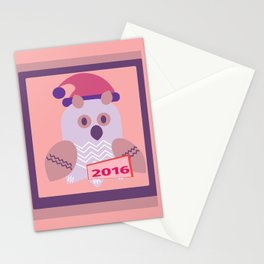 owl girl Stationery Cards