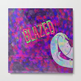 Blazed Metal Print