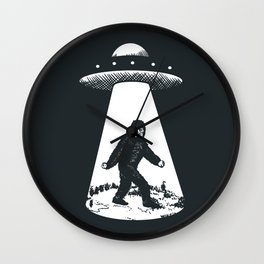 Bigfoot abducted by UFO Wall Clock