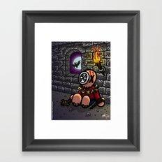 La chasse aux vampires Framed Art Print