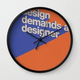 Design Demands A Designer Wall Clock