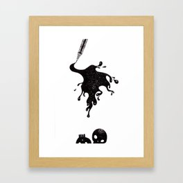 Inkblot Framed Art Print