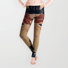 japanese flowers Leggings