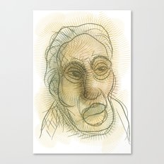 Sketch of a man Canvas Print