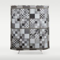 chess Shower Curtains featuring Chess  by Geometric Arte Studio