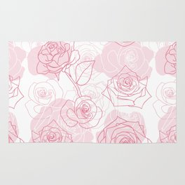Beautiful Rose Flower Pattern Art Rug
