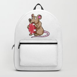 Mouse at Poker with Poker chips Backpack