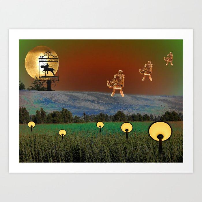 Visitation - A Lampscape Art Print