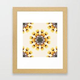 Tulips Mandala II Framed Art Print