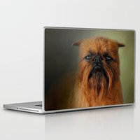 brussels Laptop & iPad Skins featuring The Brussels Griffon by Jai Johnson