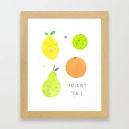 Friendly Fruit Framed Art Print