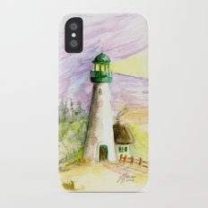 Lighthouse At Dusk Slim Case iPhone X
