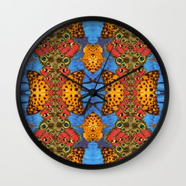 Sacred butterfly geometry Wall Clock