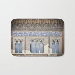 Window Detail at Royal Alcazar of Seville Bath Mat