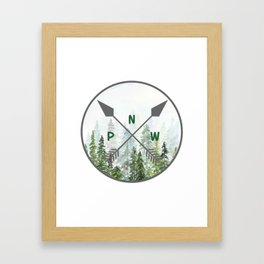 Icons of the Pacific Northwest Framed Art Print