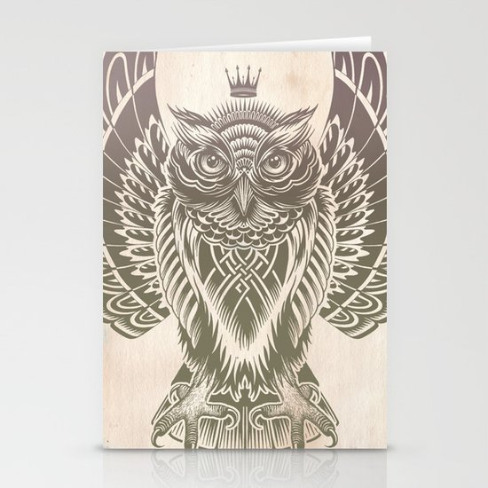 Silent Flight (Owl Wings) Stationery Cards