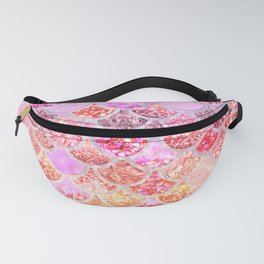 Rosegold & Gold Trendy Glitter Mermaid Scales Fanny Pack